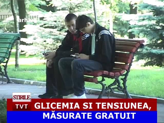 GLICEMIA SI TENSIUNEA, MASURATE GRATUIT