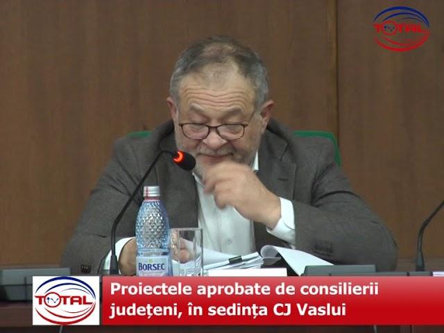 Proiectele aprobate de consilierii județeni, în sedința CJ Vaslui