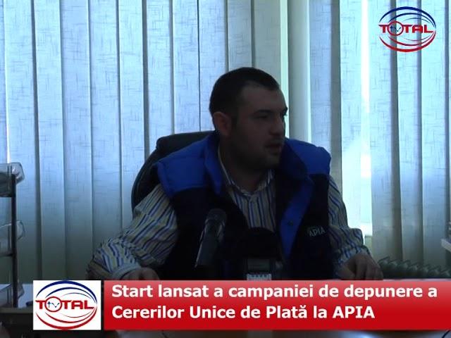 Start lansat a campaniei de depunere a Cererilor Unice de Plată la APIA