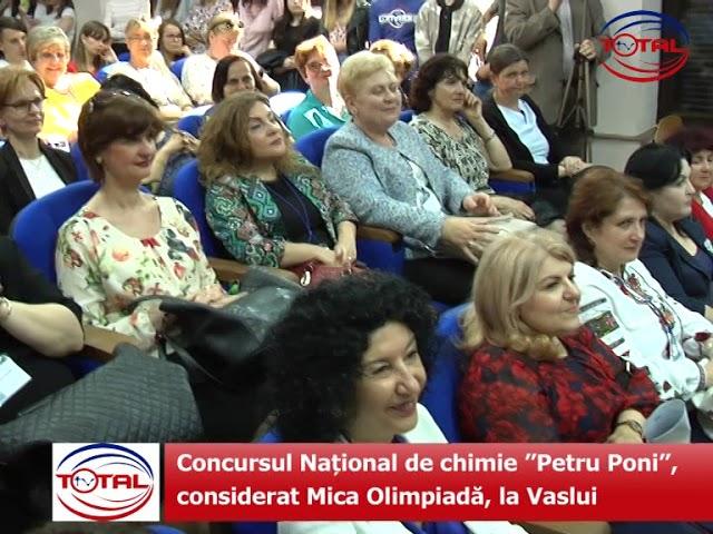 """Concursul Național de chimie """"Petru Poni"""", considerat Mica Olimpiadă, la Vaslui"""