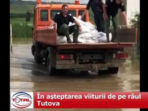 În așteptarea viiturii de pe râul Tutova