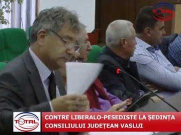 VIDEO: CONTRE LIBERALO-PESEDISTE LA ȘEDINȚA CONSILIULUI JUDEȚEAN VASLUI