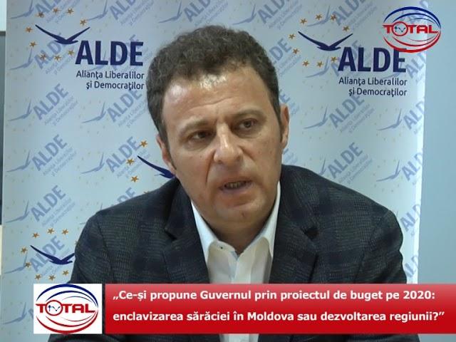 """VIDEO:  """"Ce-și propune Guvernul prin proiectul de buget pe 2020: enclavizarea sărăciei în Moldova sau dezvoltarea regiunii?"""""""