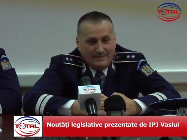 VIDEO: Noutăți legislative prezentate de IPJ Vaslui