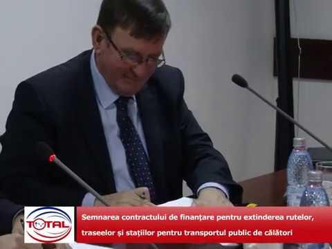 VIDEO: Semnarea contractului de finanțare pentru extinderea rutelor, traseelor și stațiilor pentru transportul public de călători