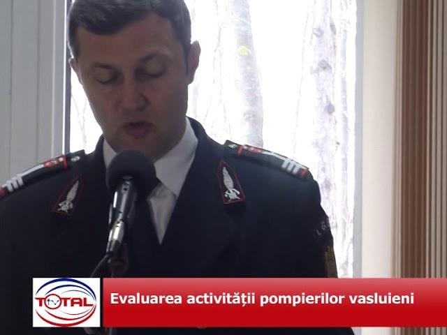 VIDEO: Evaluarea activității pompierilor vasluieni